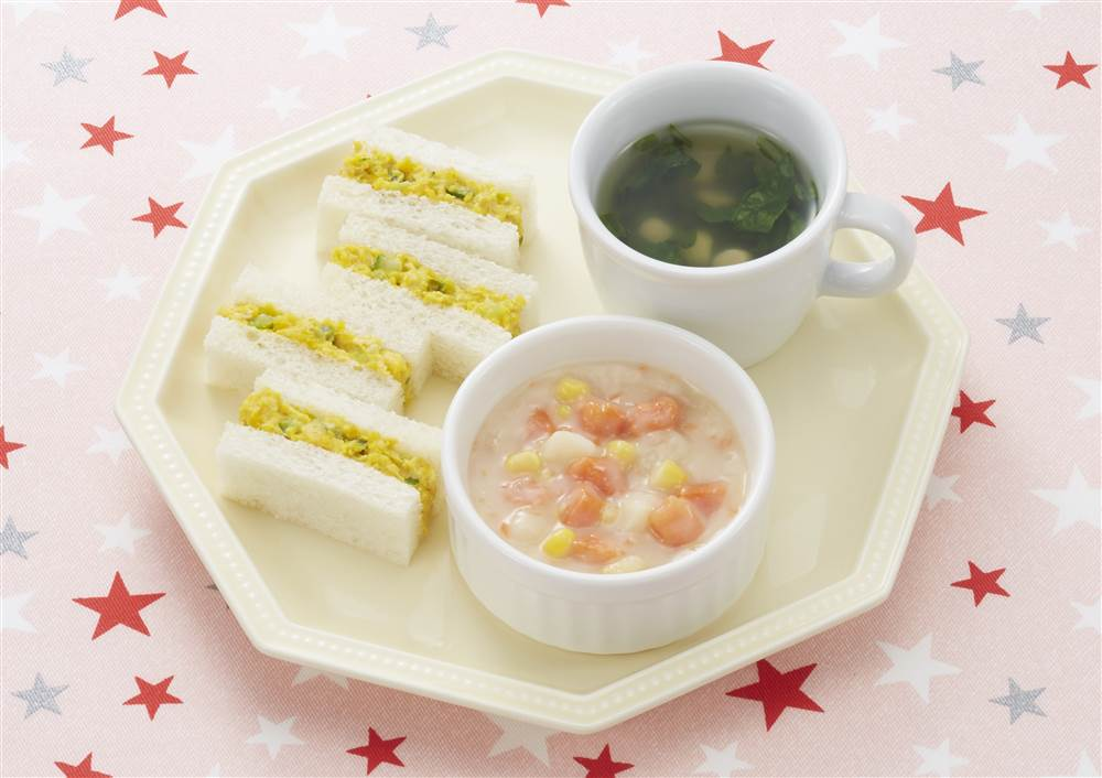 「鮭と野菜のクリーム煮」を使った献立