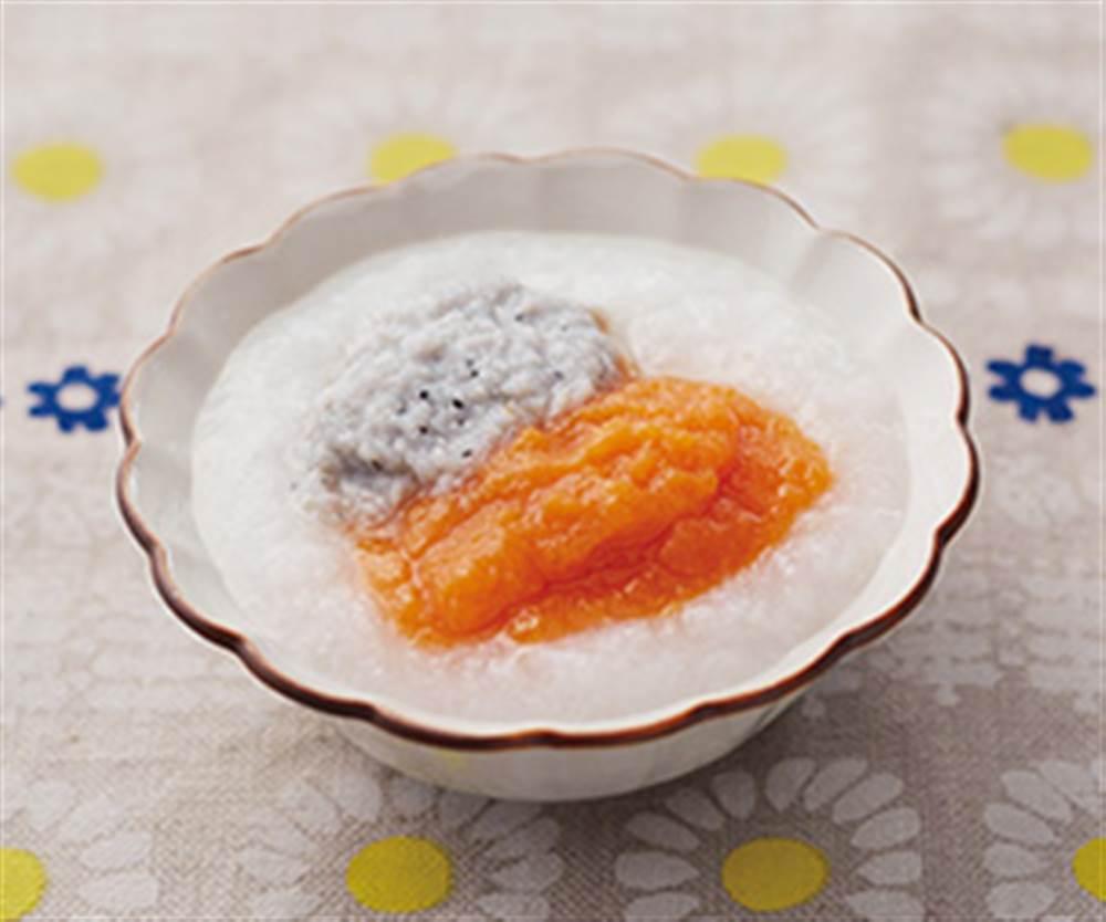 にんじんとポテトの白身魚のリゾット