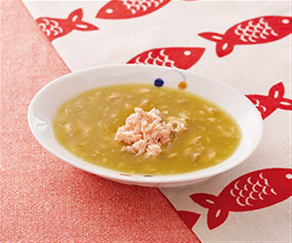 鮭と野菜のとろとろスープ煮