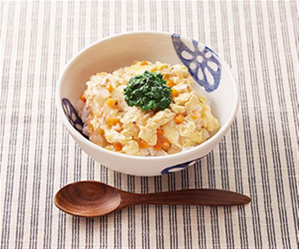 根菜の卵とじ丼