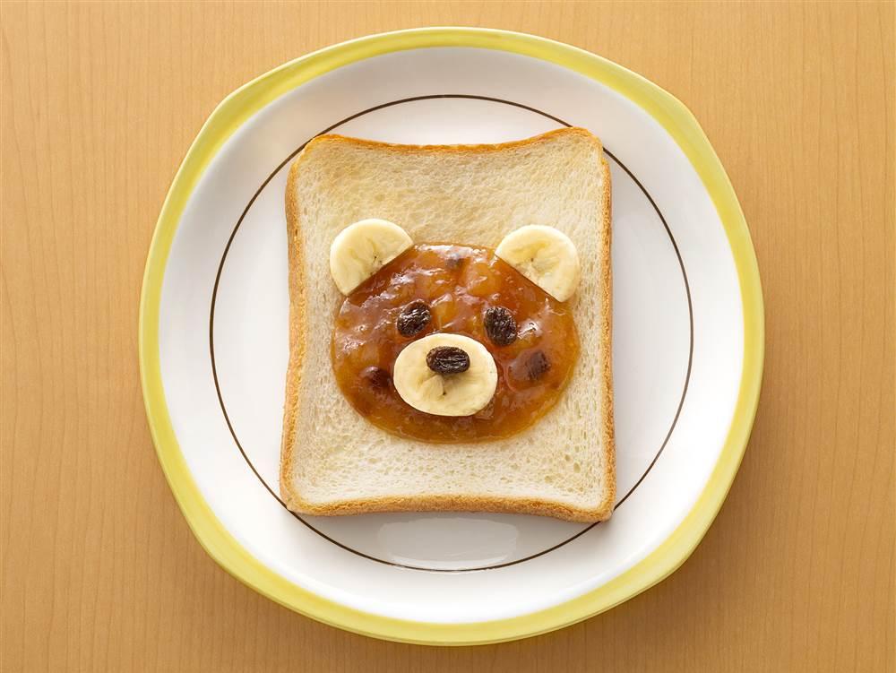 写真:ジャムdeくまトースト
