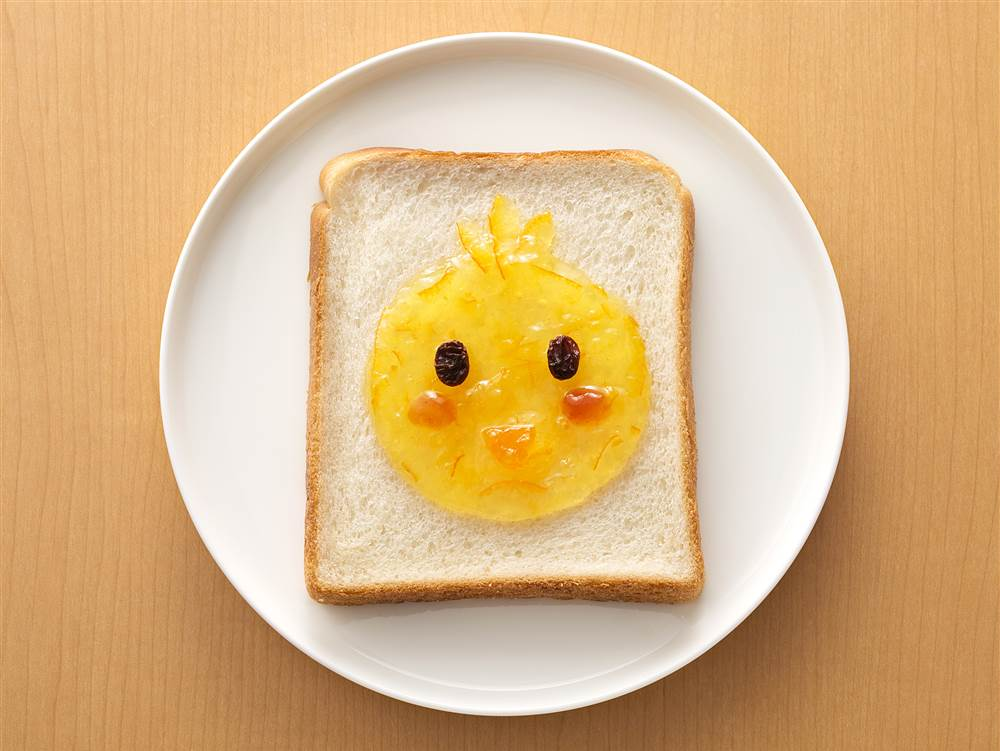 写真:ジャムdeひよこパン
