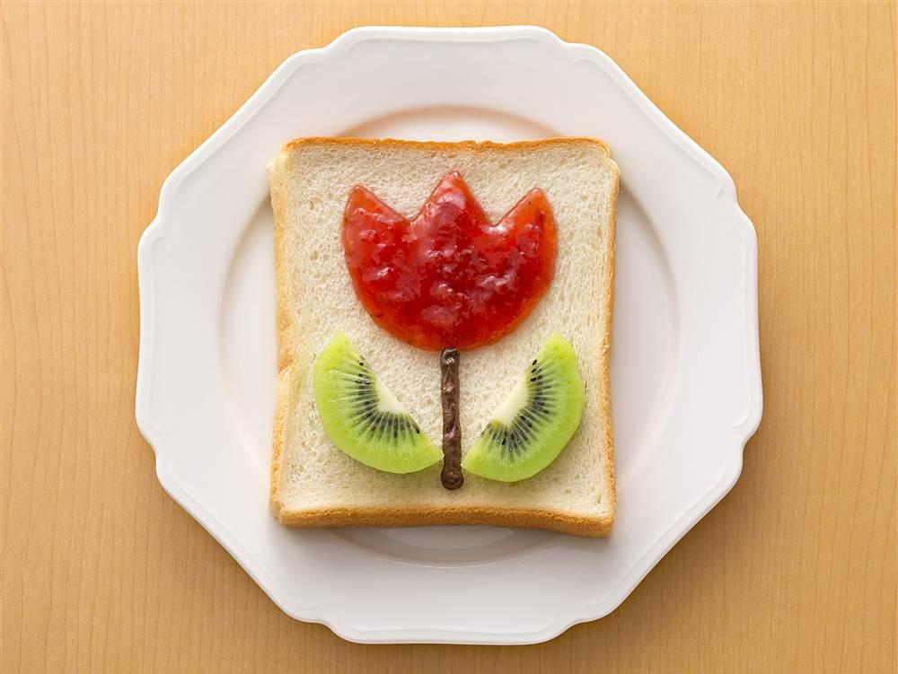 写真:ジャムdeチューリップパン