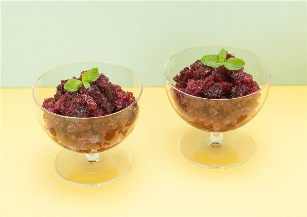 写真:まるごと果実 ブルーベリーのグラニテ
