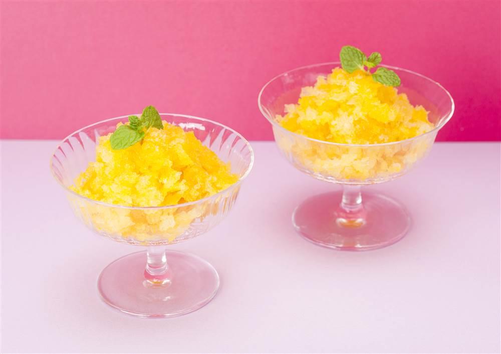 写真:まるごと果実 マンゴーのグラニテ