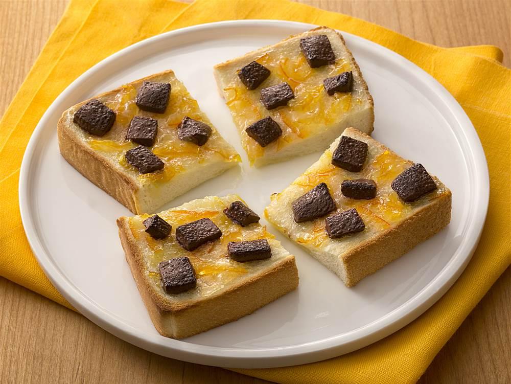 写真:ママレードとビターチョコのホットパン