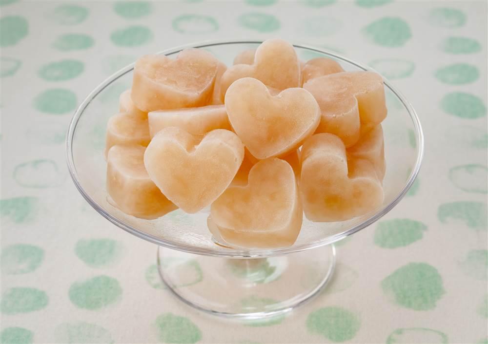 写真:白桃&グァバのアイスキューブ