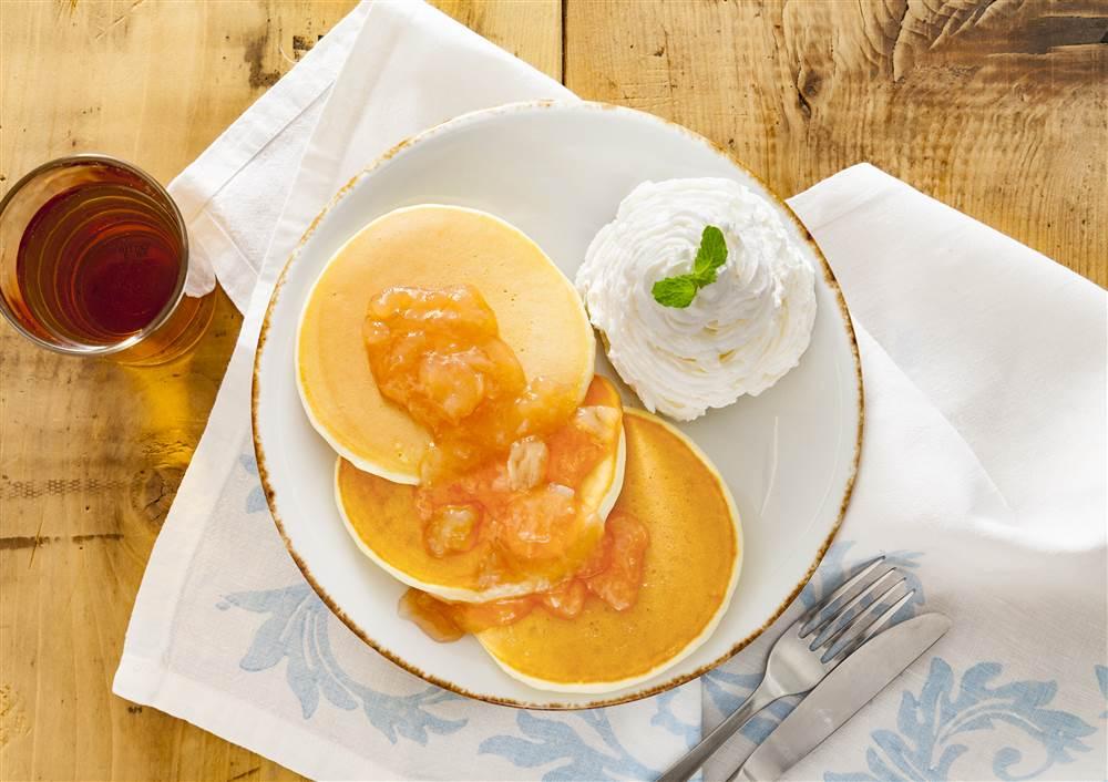 写真:白桃&グァバのパンケーキ
