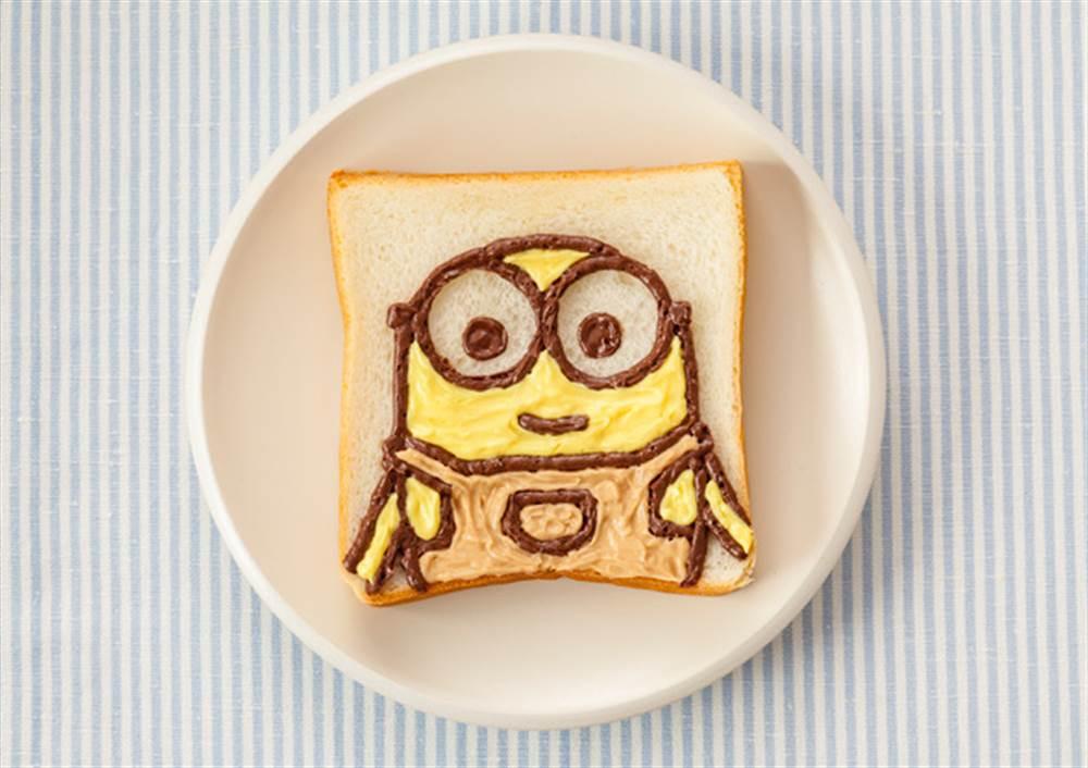 写真:お絵かきパン 3色ボブ