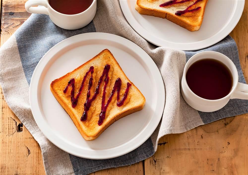 写真:トースト ブルーベリー&はちみつオリゴがけ