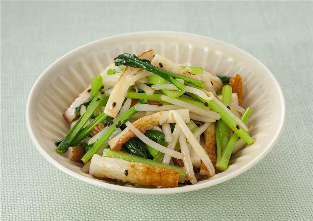写真:小松菜とちくわの和え物