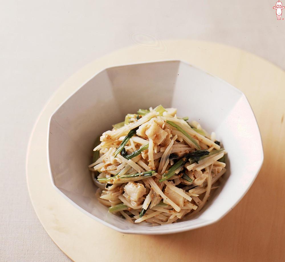 写真:じゃがいもと小松菜のごまサラダ