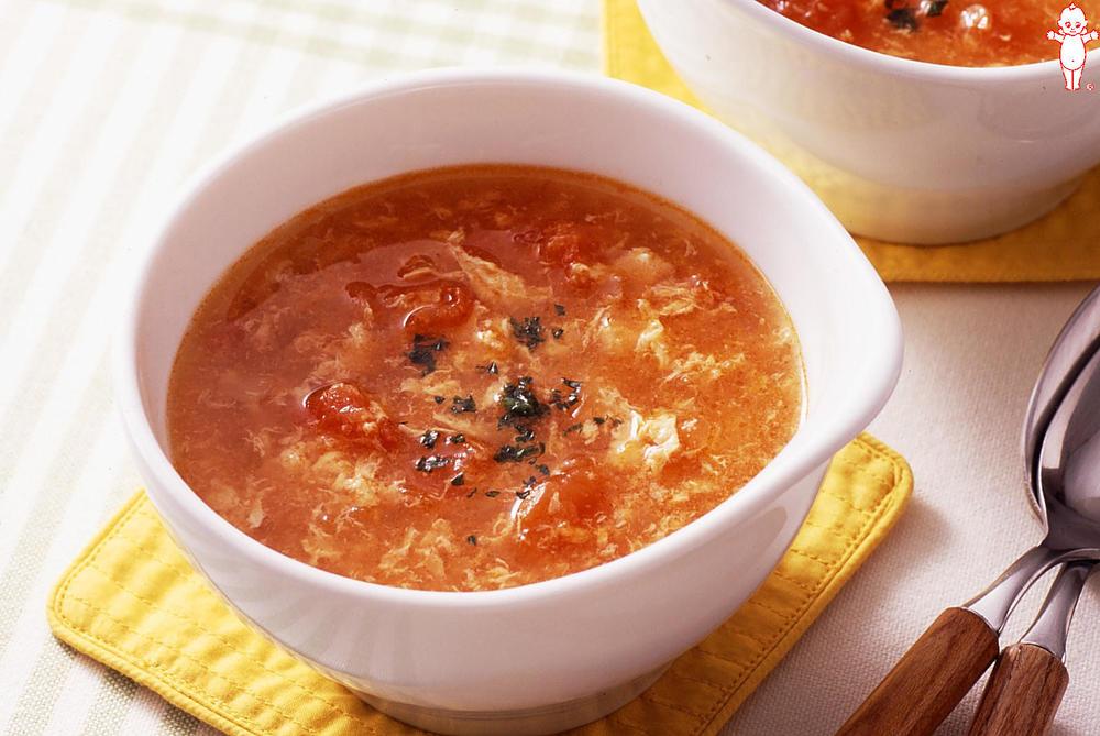 写真:トマトと卵のスープ