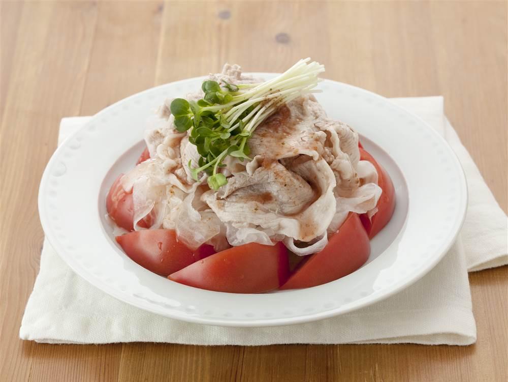 写真:大根と豚しゃぶのさっぱり梅サラダ
