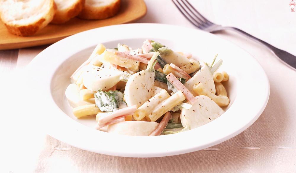 写真:かぶとマカロニのサラダ