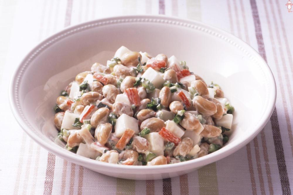 写真:大豆とかぶのヘルシーサラダ