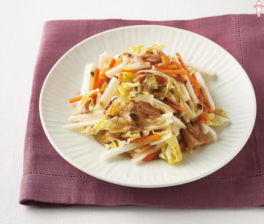 写真:白菜とツナの和風サラダ