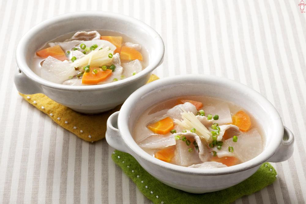 写真:しょうが入り和風スープ