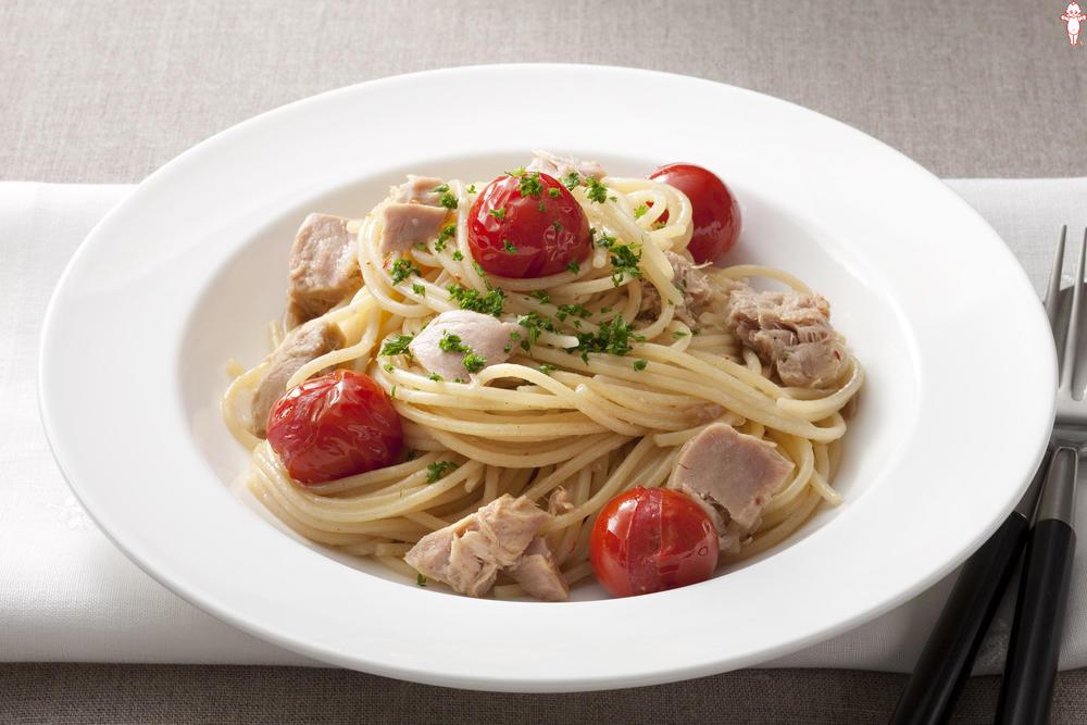 写真:トマトとツナのスパゲッティ