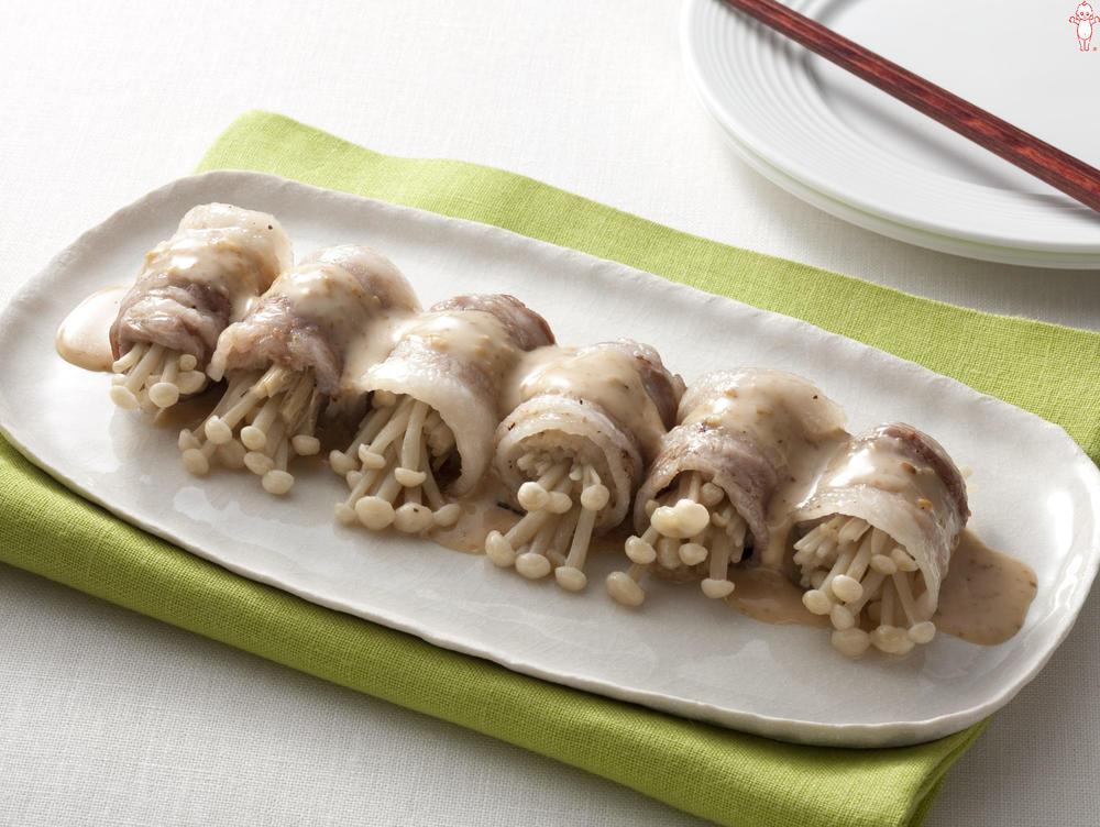 写真:レンジでかんたん!えのきの豚肉巻きサラダ