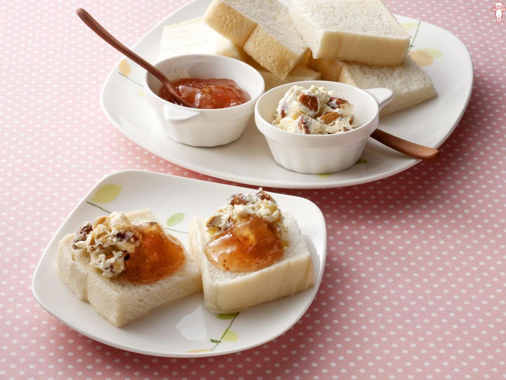 写真:クリームチーズとナッツのイチジクサンド