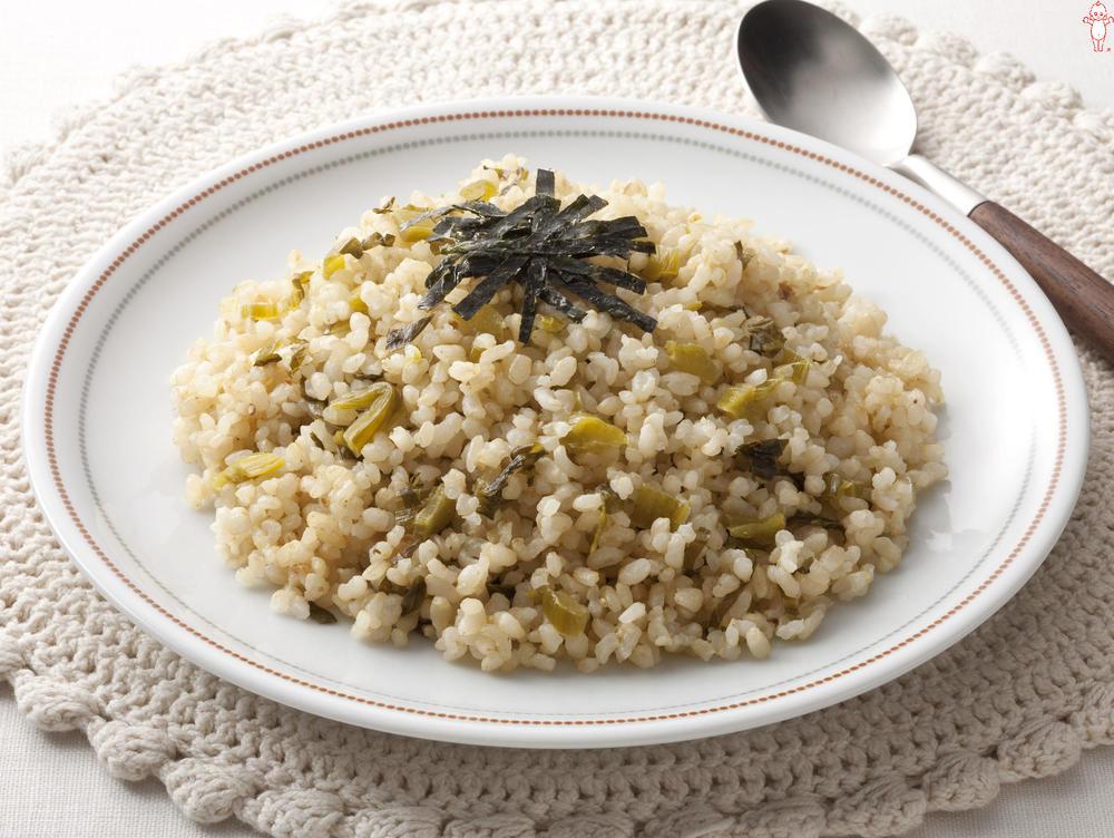 写真:玄米高菜マヨチャーハン