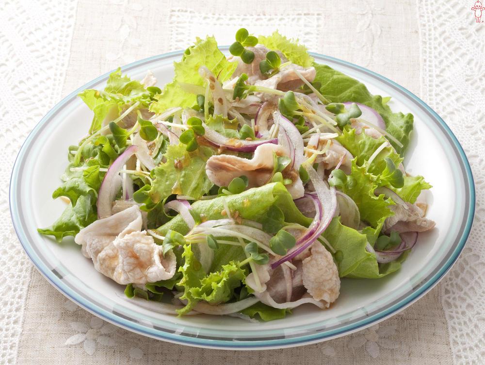 写真:豚しゃぶのグリーンサラダ