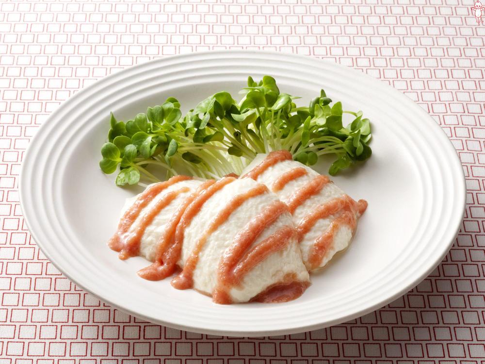 写真:たらこ風味の豆腐サラダ