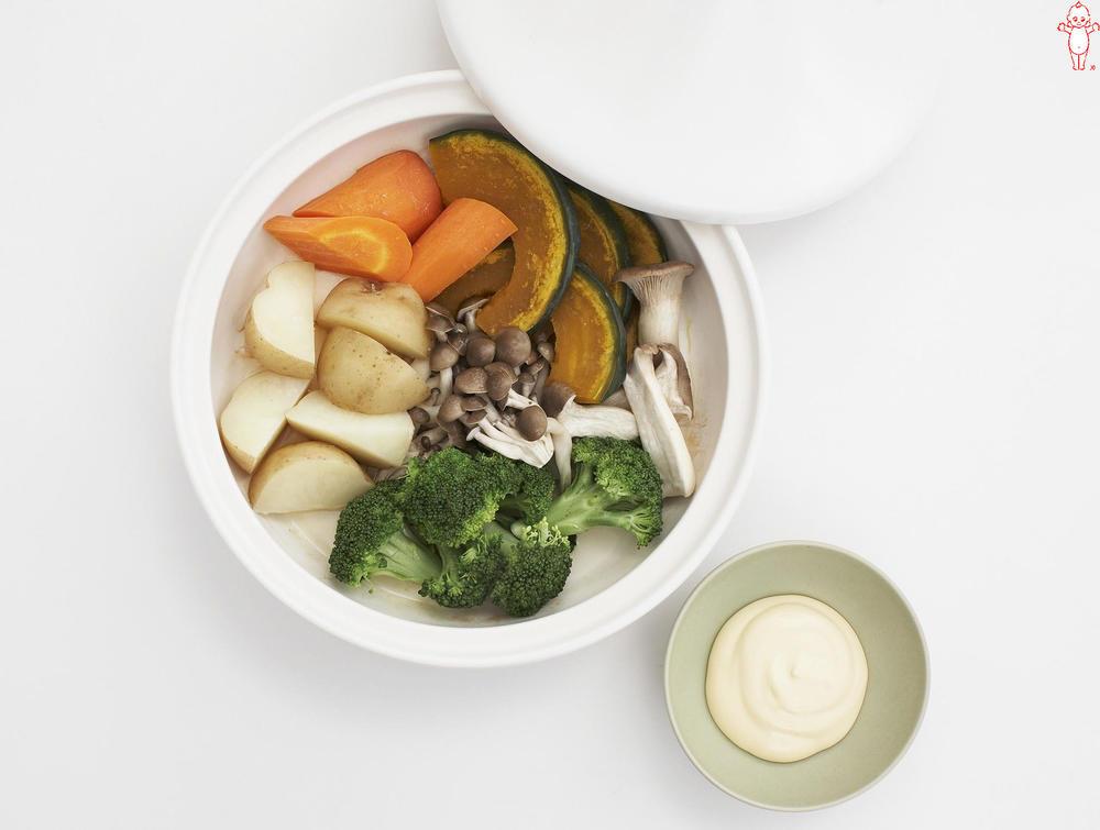 写真:秋野菜の蒸しサラダ