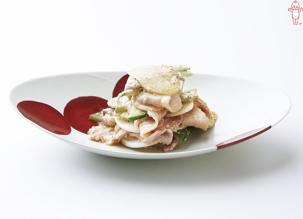 写真:豚肉とかぶのスパイシーサラダ