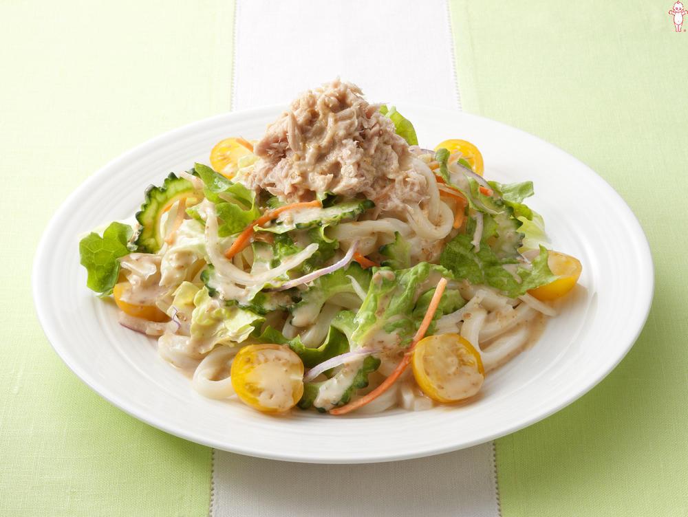 写真:ツナと野菜のサラダうどん