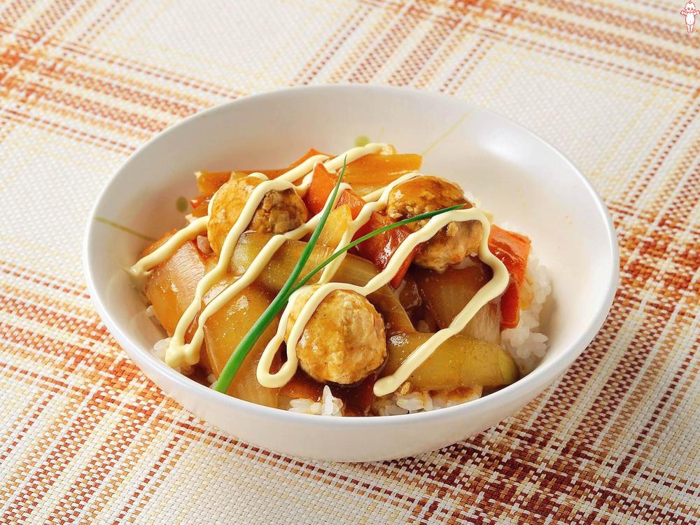 写真:鶏つくねと野菜のあんかけ丼