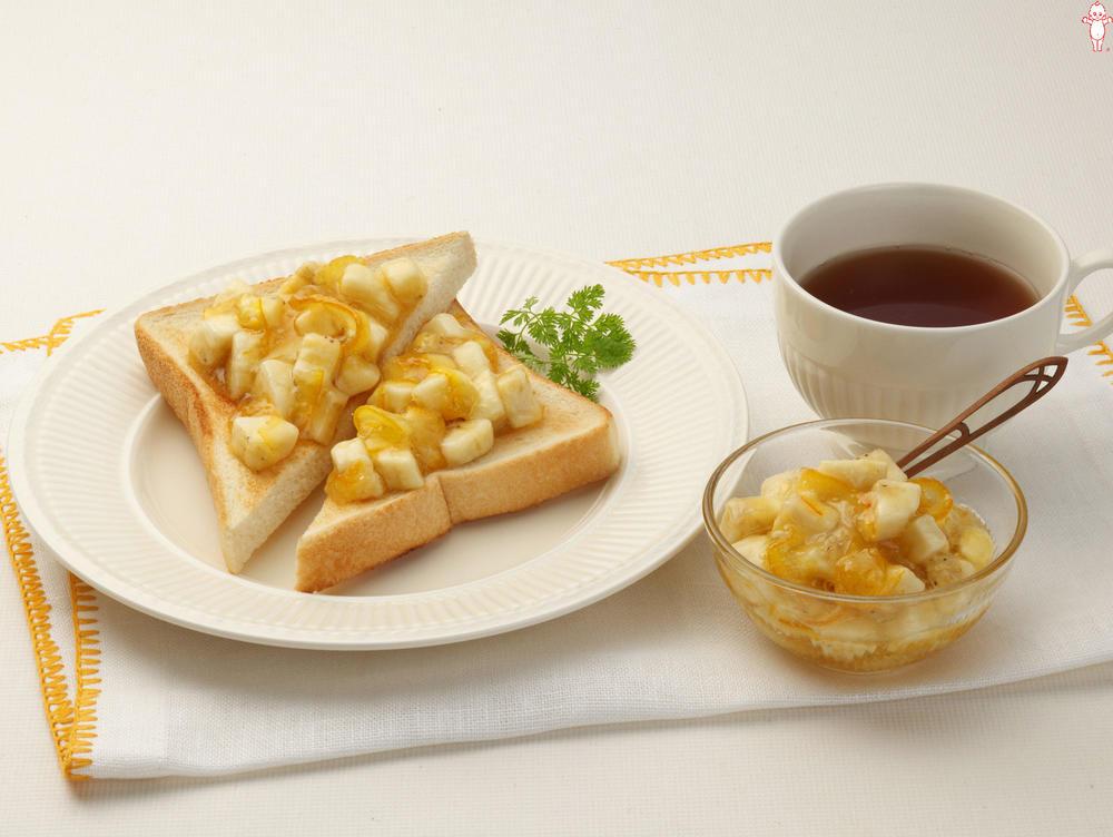 写真:まぜフル♪ジャムのトースト オレンジママレードとバナナ