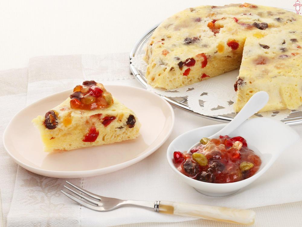 写真:まぜフル♪ジャムの蒸しケーキ イチジクジャムとドライフルーツ