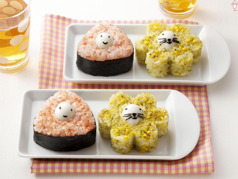 写真:うずら卵でキャラにぎり