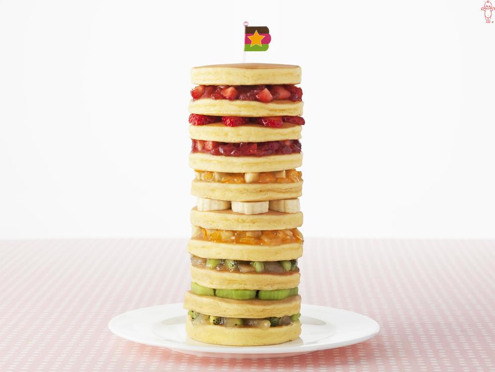 写真:まぜフル♪ジャムのフルーティホットケーキタワー