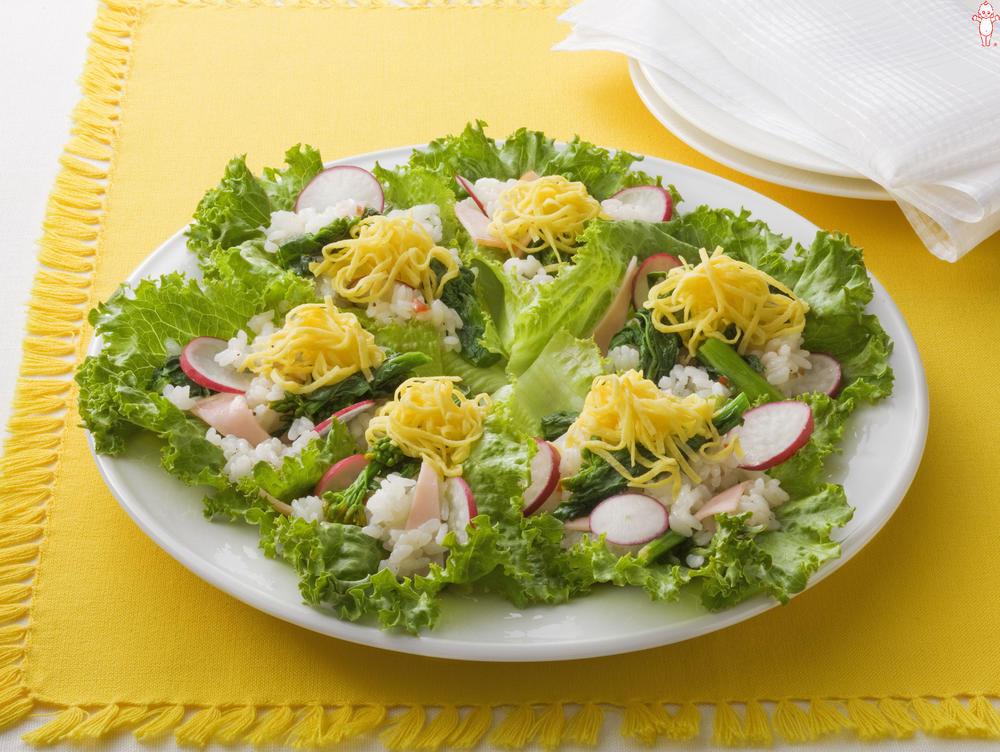 写真:菜の花ライスサラダ