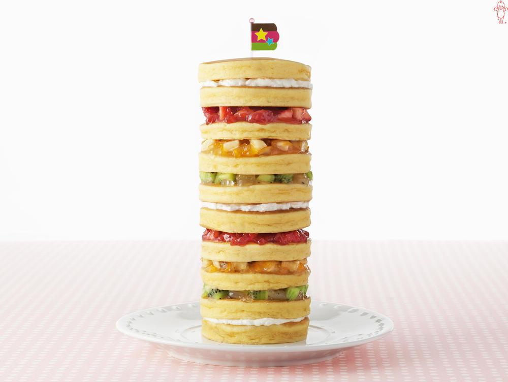写真:まぜフル♪ジャムとヨーグルトのホットケーキタワー