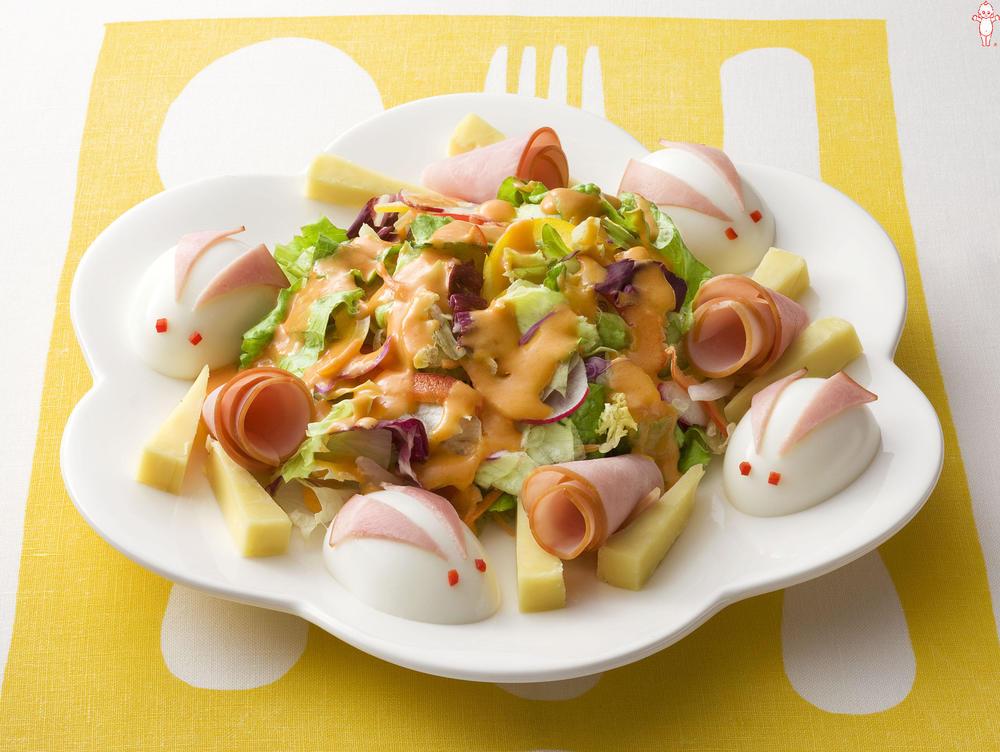写真:卵のうさぎのチーズサラダ