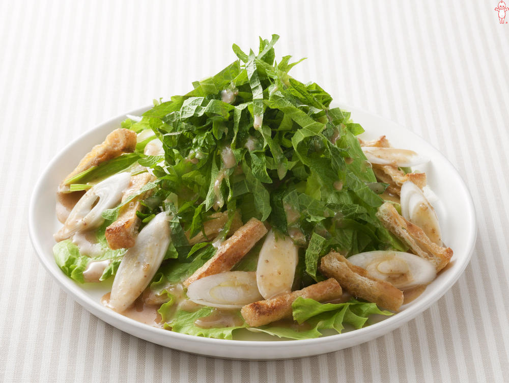 写真:青じそとカリカリ油揚げのサラダ