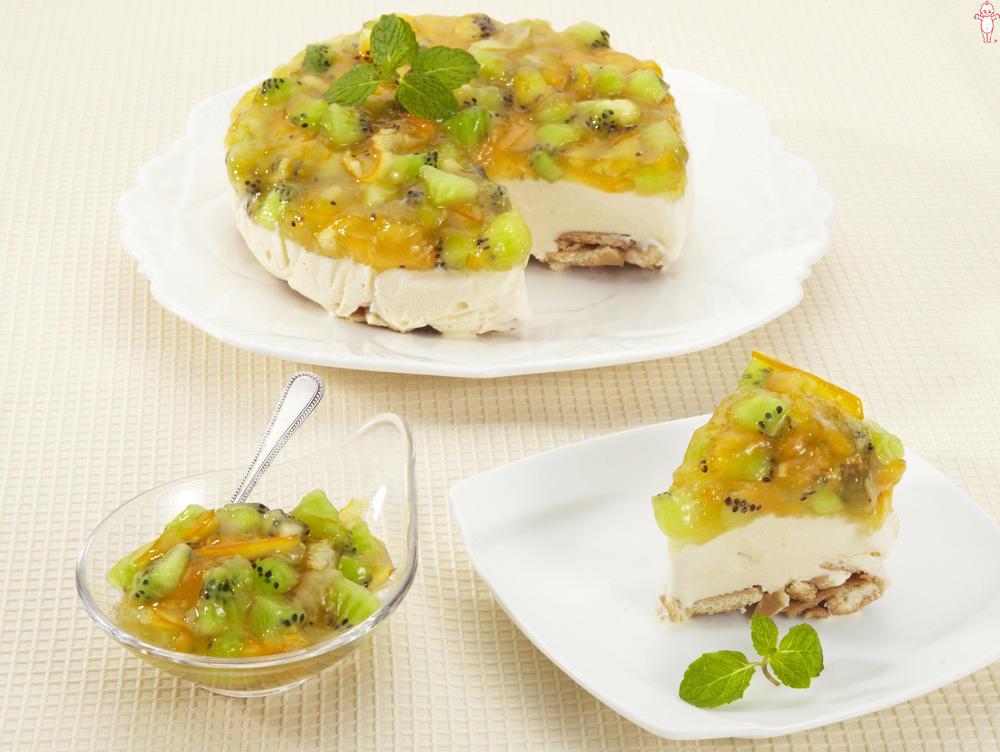 写真:まぜフル♪ジャムのアイスケーキ オレンジママレードとキウイ