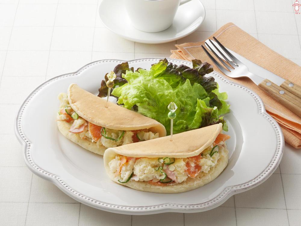 写真:ポテトサラダが大活躍!ポテサラパンケーキ