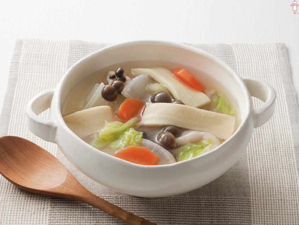 写真:和風スープ 高野豆腐入り