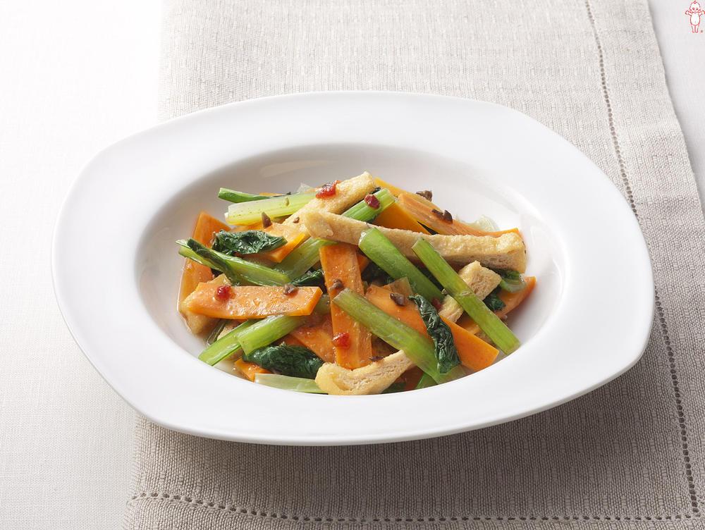 写真:にんじんと小松菜の和風サラダ