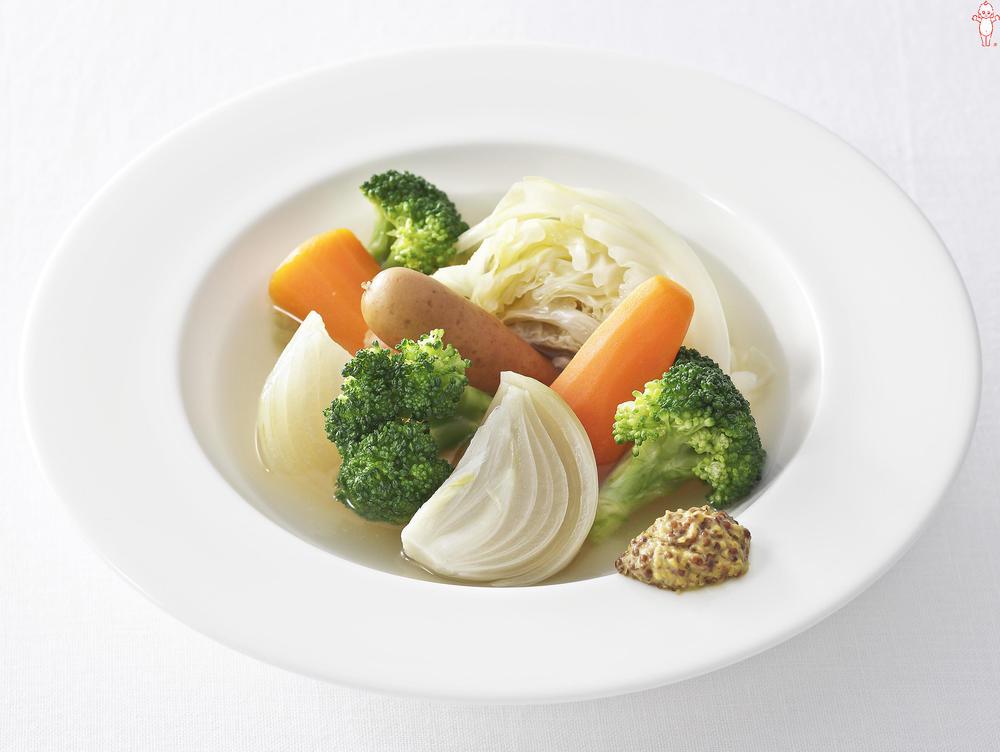 写真:野菜たっぷりポトフ マスタード添え