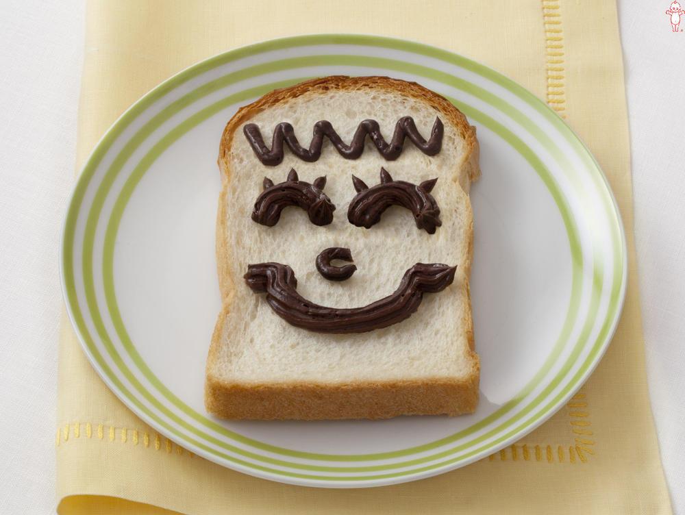 写真:ニコニコお絵かきパン チョコ