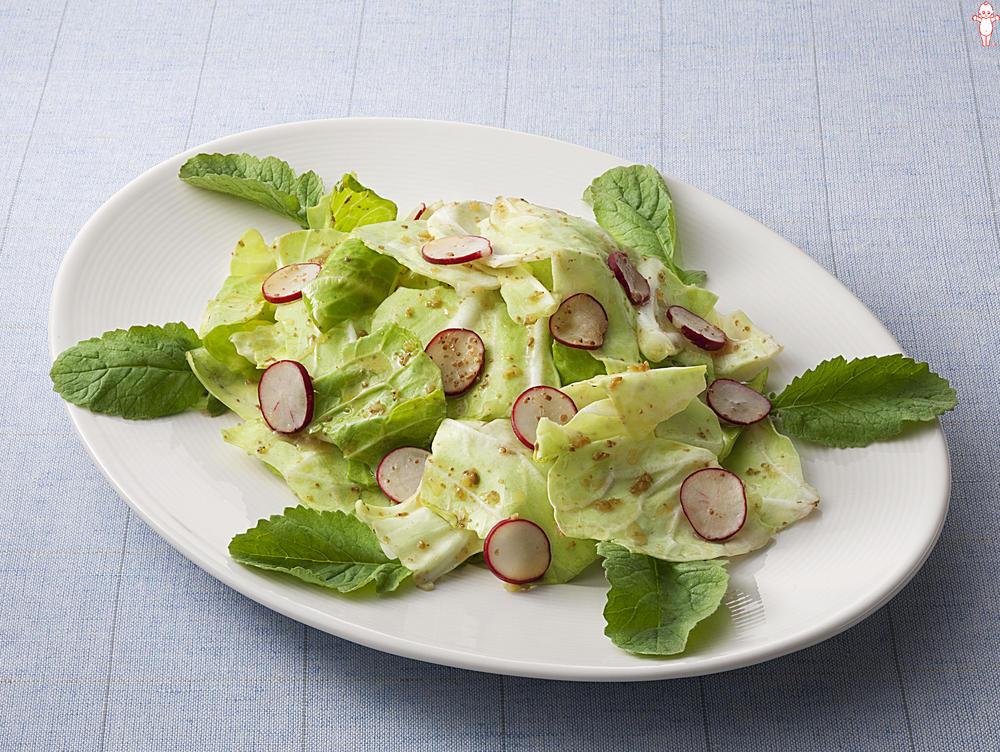 写真:キャベツとラディッシュのごま風味サラダ