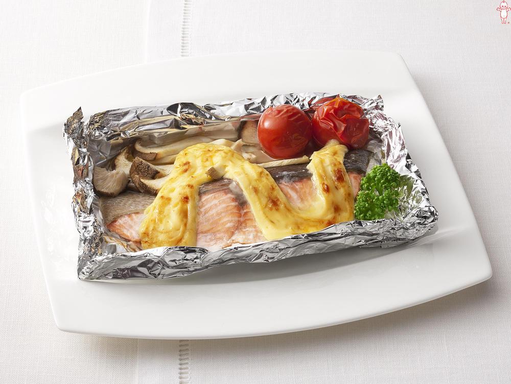 写真:オーブントースターでかんたん!鮭とエリンギのマヨネーズ焼き