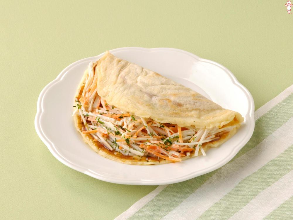 写真:ごぼうサラダのお好み焼き風