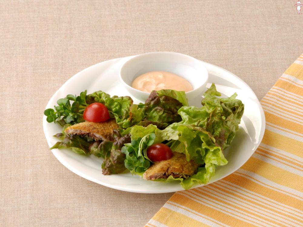 写真:さんまのレタス巻きサラダ